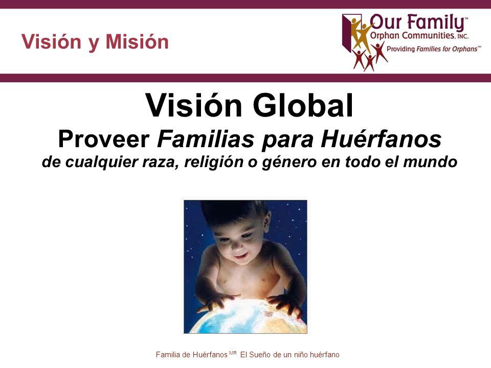 Visión y Misión Visión Global Proveer Familias para Huérfanos de cualquier raza, religión o género en todo el mundo 27 Familia de Huérfanos MR El Sueño de un niño huérfano