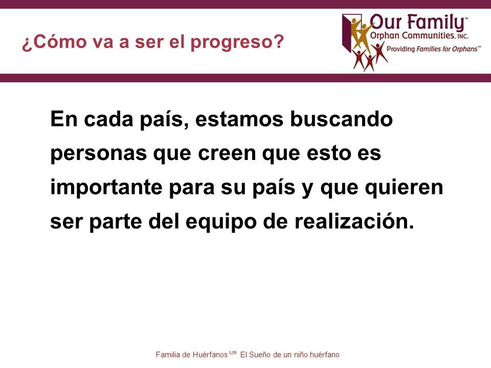 ¿Cómo va a ser el progreso.