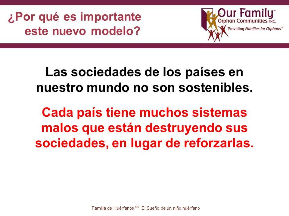 45 Familia de Huérfanos MR El Sueño de un niño huérfano Las sociedades de los países en nuestro mundo no son sostenibles.