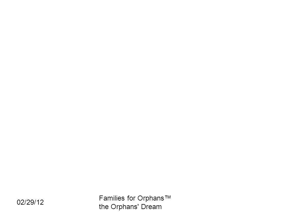 02/29/12 Families for Orphans the Orphans' Dream