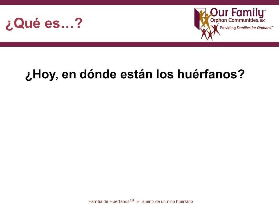 77 Familia de Huérfanos MR El Sueño de un niño huérfano ¿Hoy, en dónde están los huérfanos.