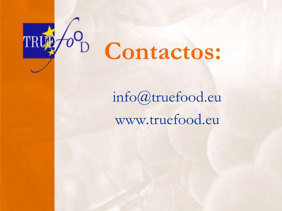 Contactos: info@truefood.eu www.truefood.eu