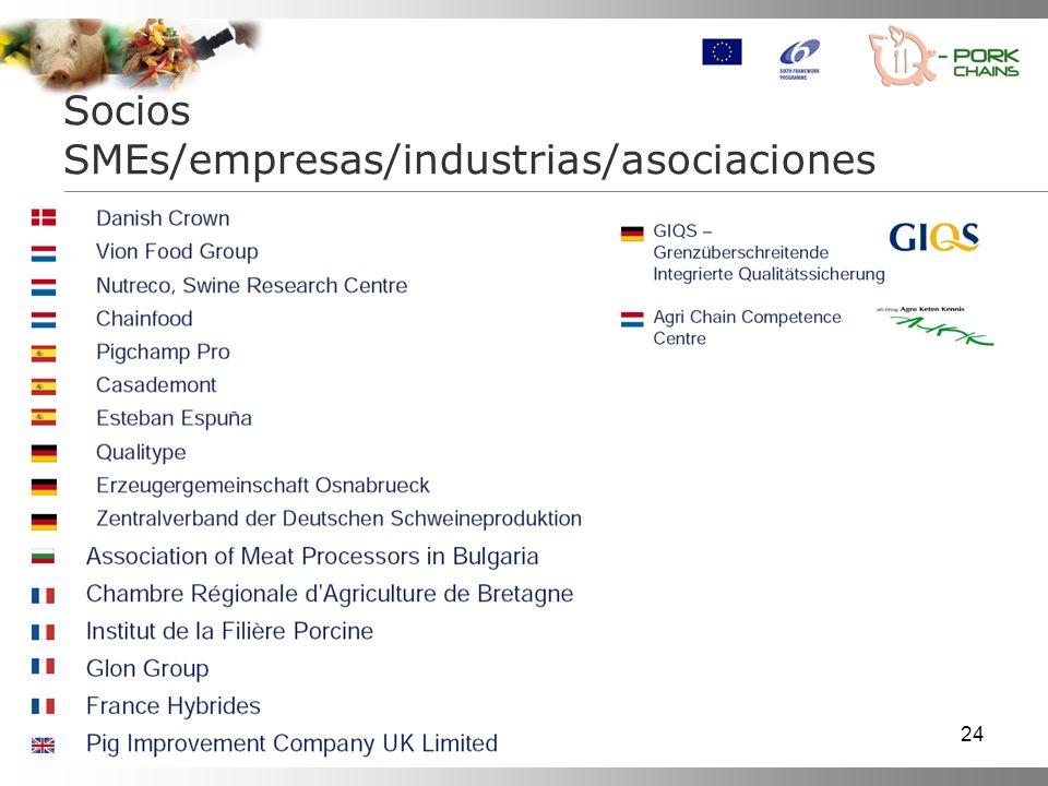 24 No Type List of Participants Short name Country Socios SMEs/empresas/industrias/asociaciones