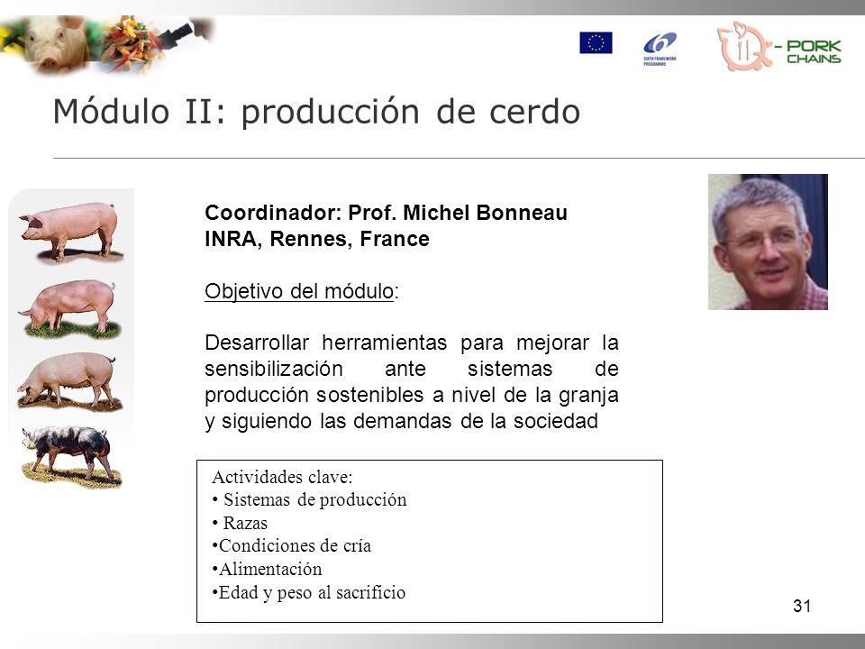 31 Módulo II: producción de cerdo Coordinador: Prof.