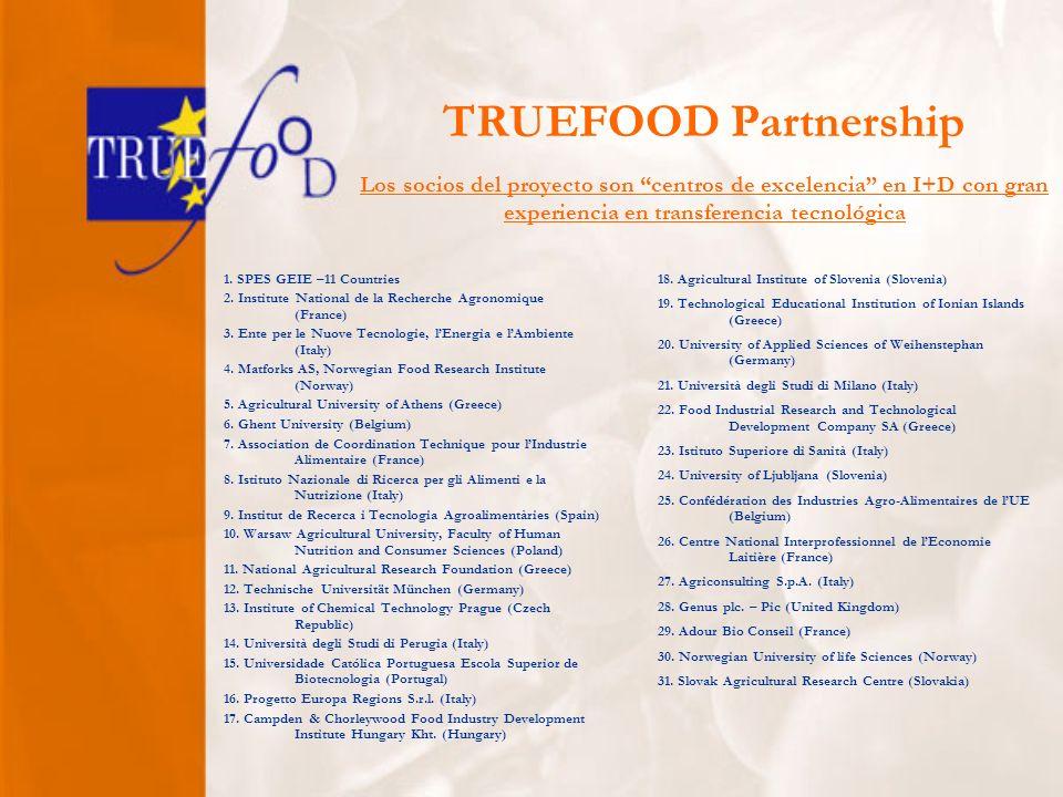 TRUEFOOD Partnership 1. SPES GEIE –11 Countries 2.
