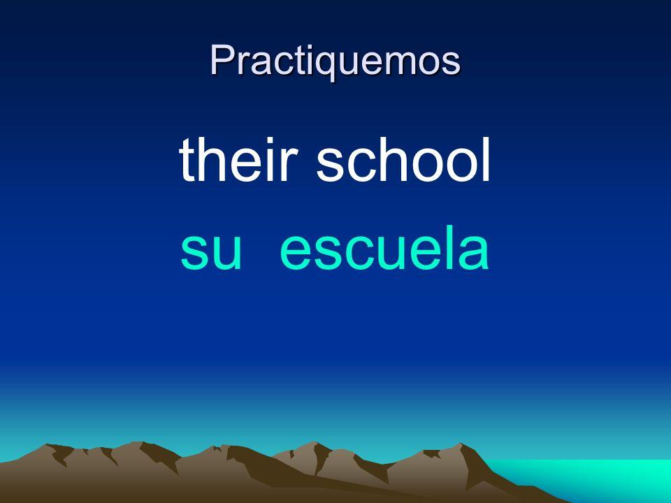 Practiquemos their school su escuela