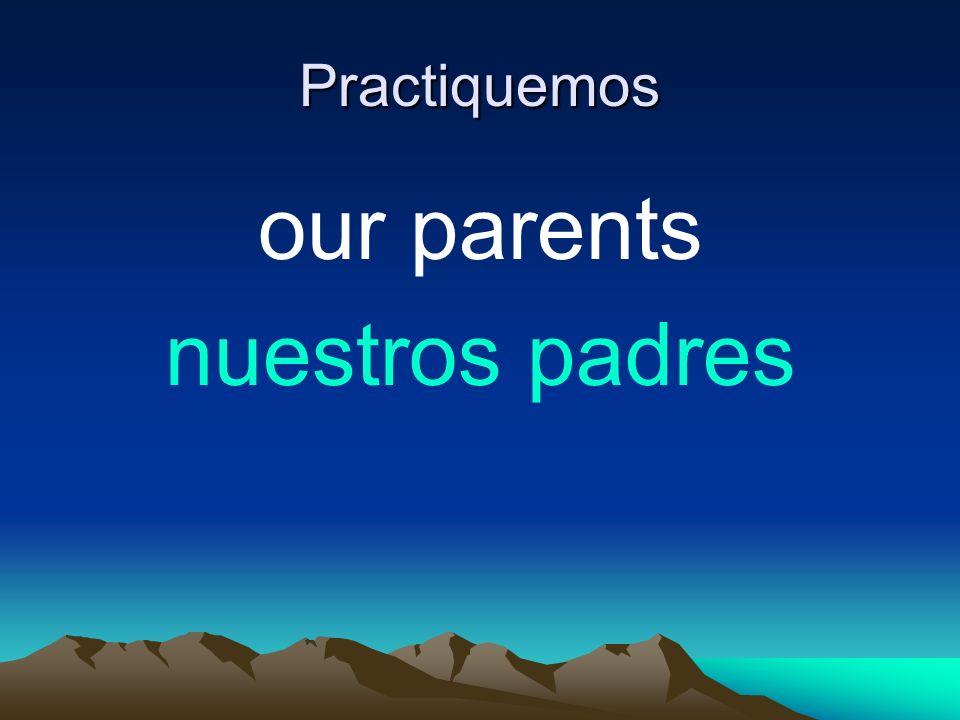 Practiquemos our parents nuestros padres