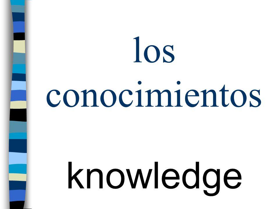 los conocimientos knowledge