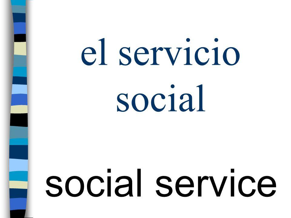 el servicio social social service
