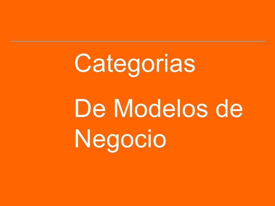 Categorias De Modelos de Negocio