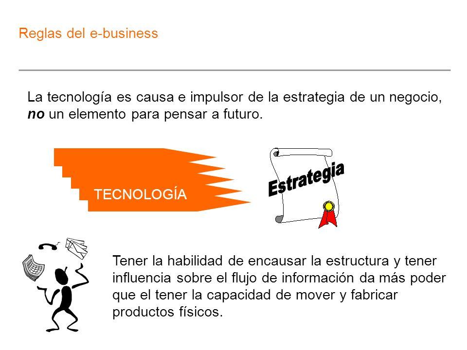 La tecnología es causa e impulsor de la estrategia de un negocio, no un elemento para pensar a futuro. Tener la habilidad de encausar la estructura y