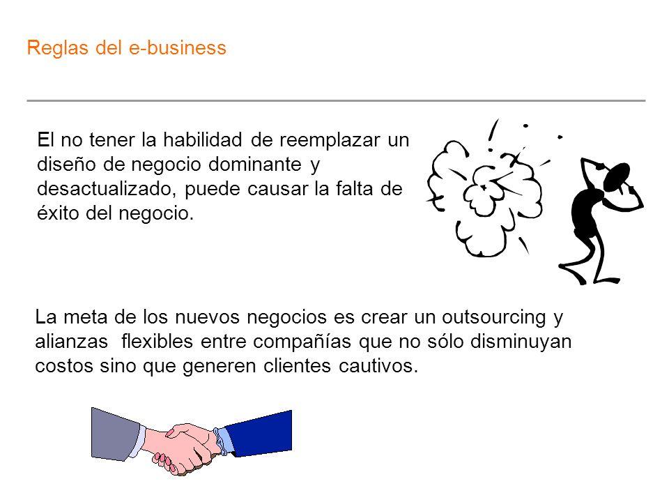 El no tener la habilidad de reemplazar un diseño de negocio dominante y desactualizado, puede causar la falta de éxito del negocio. La meta de los nue