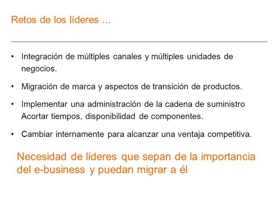 Integración de múltiples canales y múltiples unidades de negocios. Migración de marca y aspectos de transición de productos. Implementar una administr