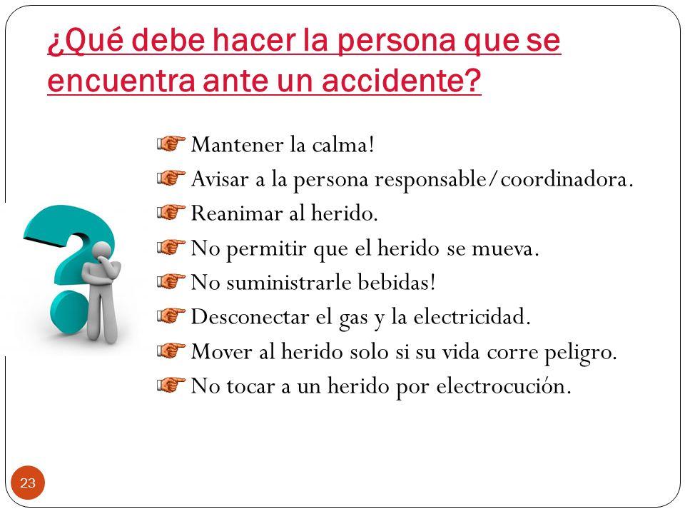 ¿Qué información debe dar el coordinador? Descripción del accidente ¿Cómo? ¿Dónde? ¿Cuándo? ¿Qué sucedió? Síntomas Localización del dolor. Síntomas vi
