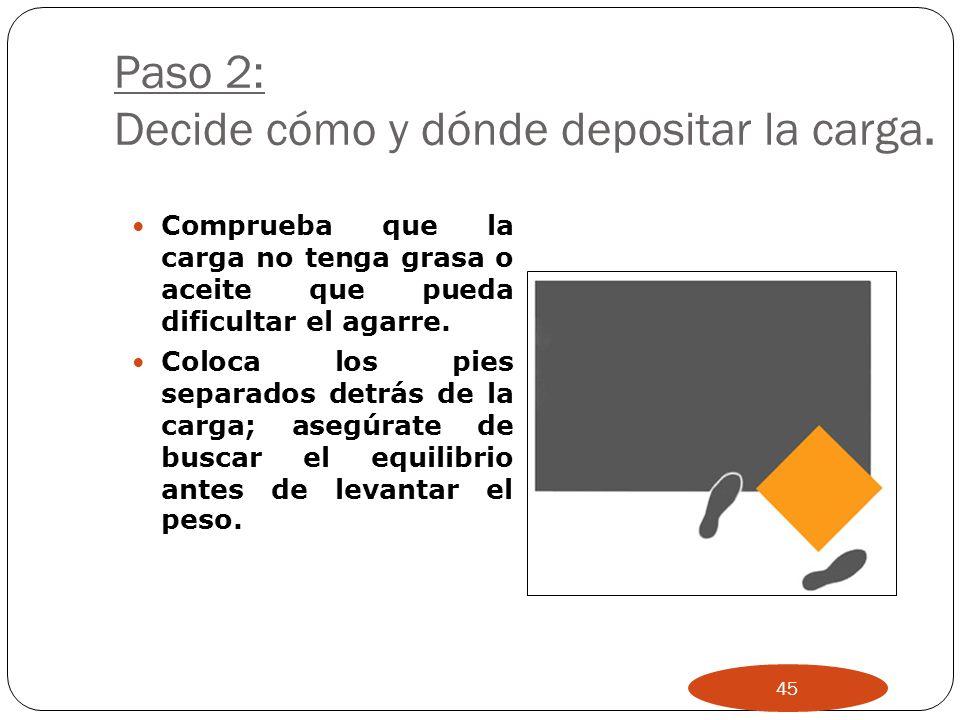 Paso 1: Identifica el objeto a levantar y organízate: ¿A dónde necesitas llevar la carga? ¿Se puede reducir de alguna manera la carga? ¿Necesitas ayud