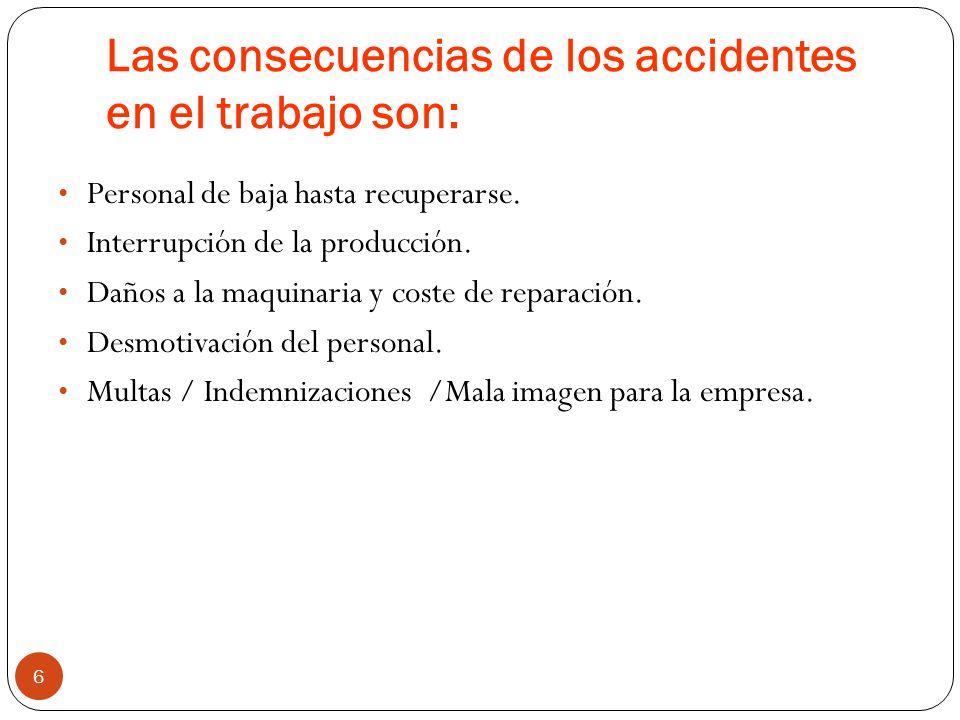 ¿Qué es un accidente? 5 Una acción espontánea e incontrolable que puede o pudo haber causado daño a personas, daño a cosas o cualquier otra pérdida. L
