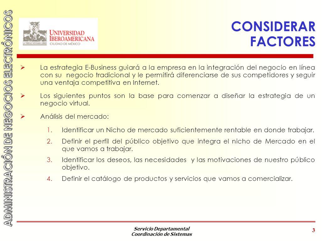 Servicio Departamental Coordinación de Sistemas 4 VALORES A IDENTIFICAR Valor para el consumidor ¿Qué va a obtener el consumidor.