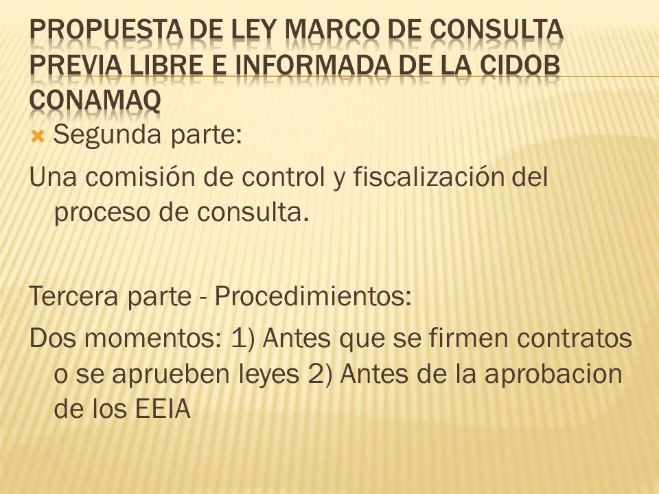 Segunda parte: Una comisión de control y fiscalización del proceso de consulta.