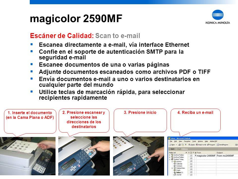 11 magicolor 2590MF Escáner de Calidad: Software LinkMagic Programa para la función Push Scan –Cómodamente escanea directo, mediante una interface USB