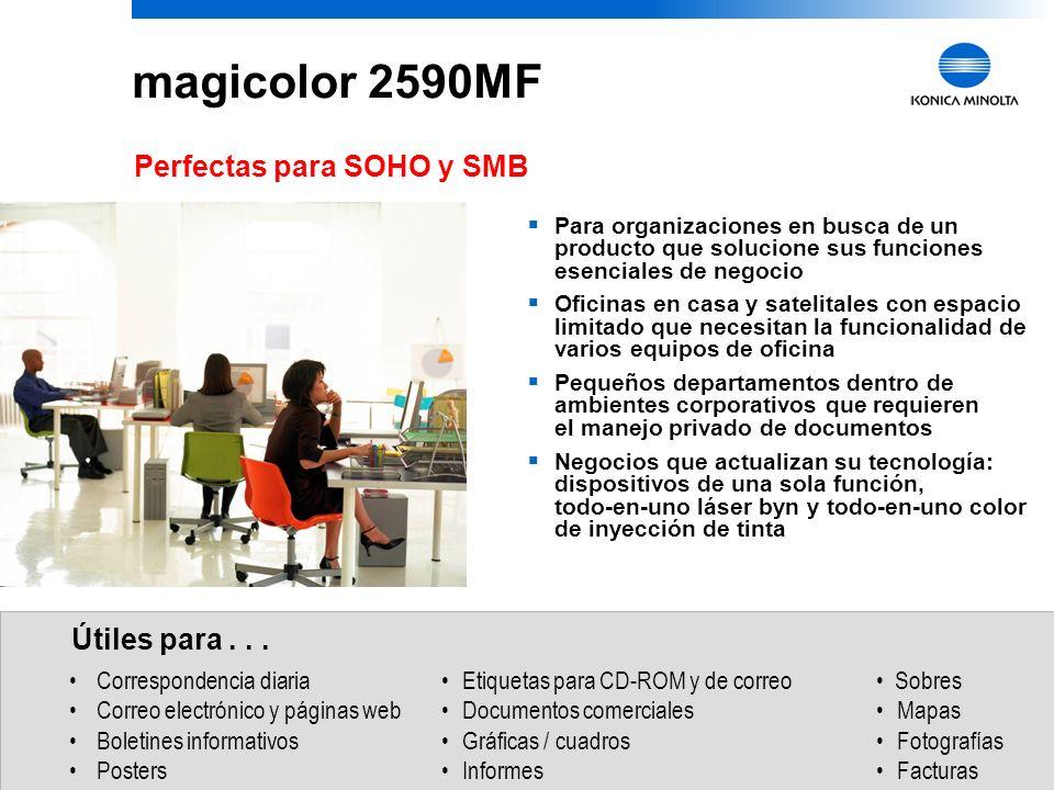 17 magicolor 2590MF 2. Seleccione las foto(s) que desea imprimir. 3. Haga click en imprimir en la interface de usuario de la cámara. Impresión Directa