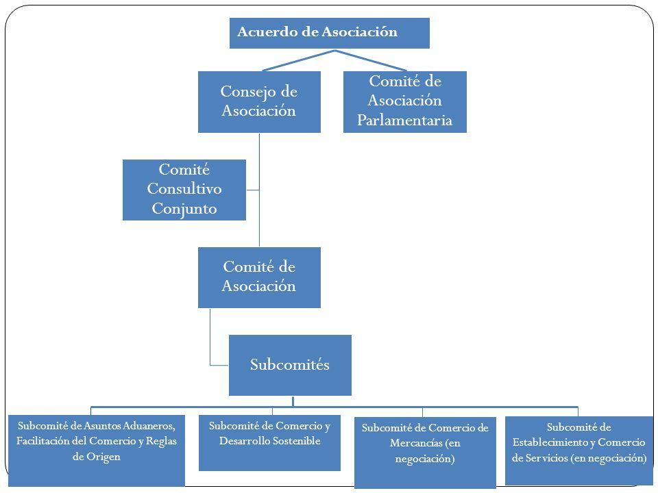 Consejo de Asociación Comité de Asociación Subcomités Comité Consultivo Conjunto Comité de Asociación Parlamentaria Subcomité de Asuntos Aduaneros, Fa