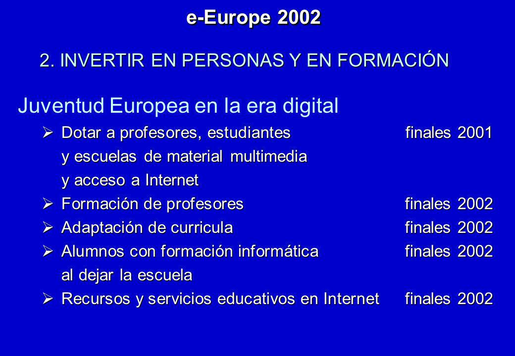 Juventud Europea en la era digital Dotar a profesores, estudiantes finales 2001 Dotar a profesores, estudiantes finales 2001 y escuelas de material mu