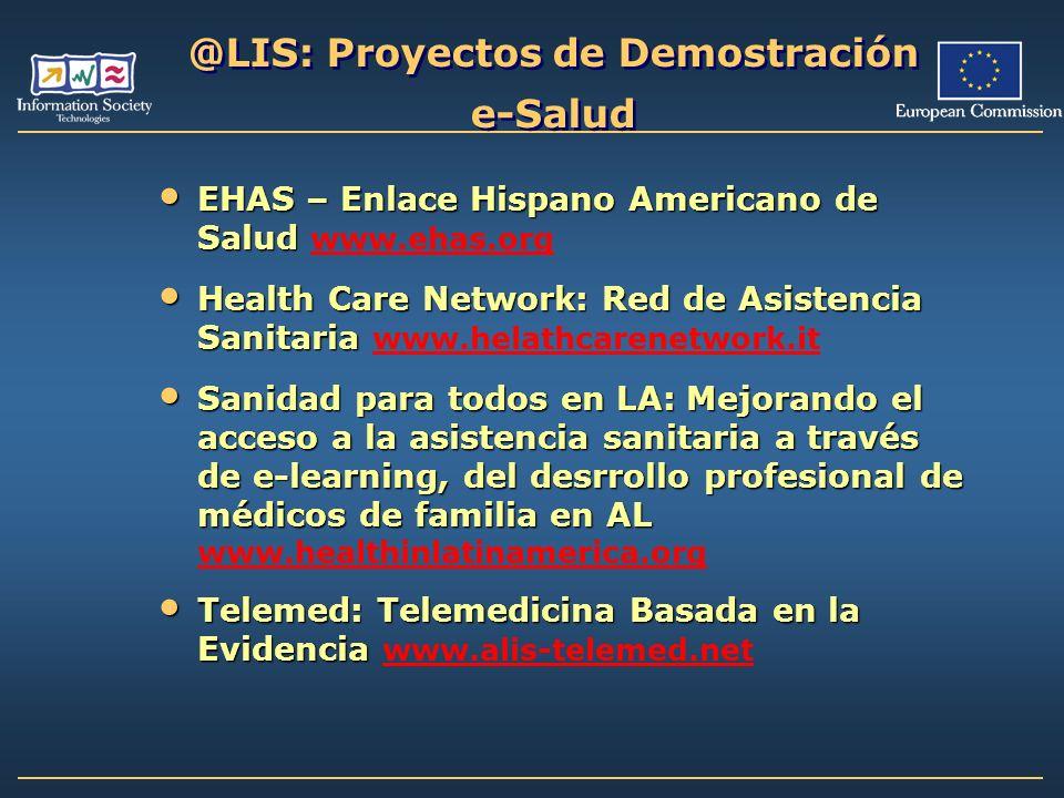 @LIS: Proyectos de Demostración e-Salud EHAS – Enlace Hispano Americano de Salud EHAS – Enlace Hispano Americano de Salud www.ehas.org www.ehas.org He