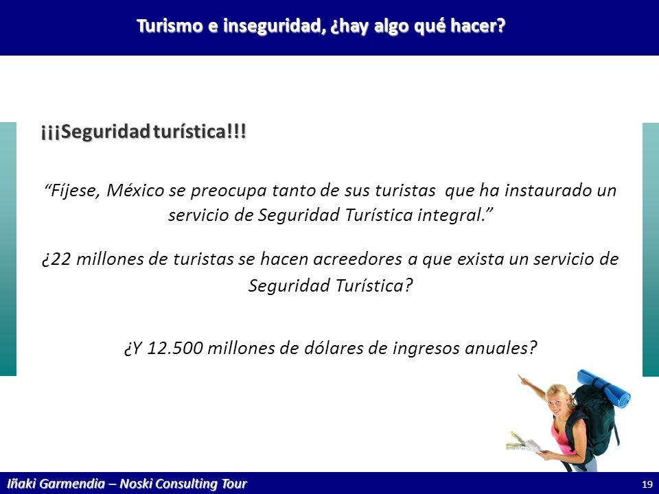 Iñaki Garmendia – Noski Consulting Tour Turismo e inseguridad, ¿hay algo qué hacer? ¡¡¡Seguridad turística!!! Fíjese, México se preocupa tanto de sus