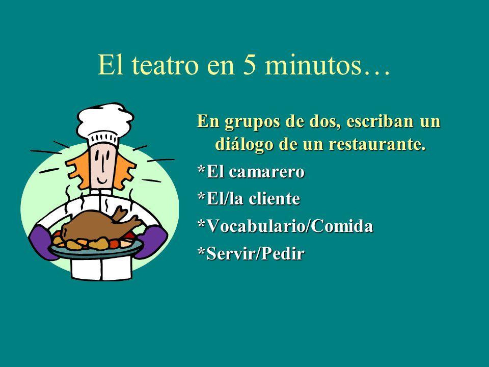 Las respuestas de actividad 12 1.Yo pido una ensalada y Enrique la sirve. la refers to the ________________ 2.Mi amigo pide pollo y sus padres lo sirv