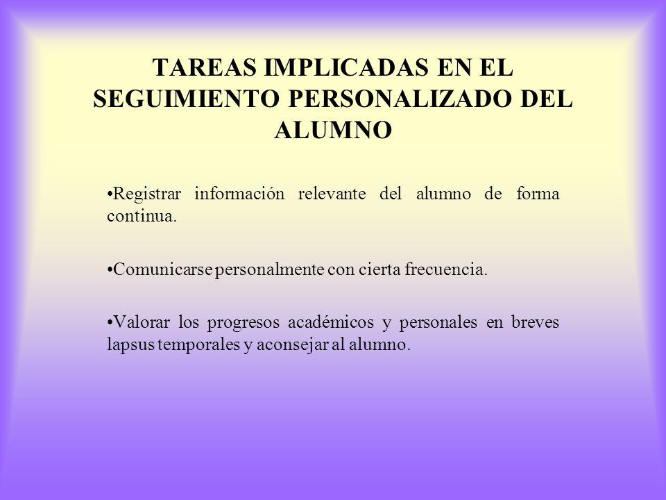 TAREAS DE LA ORIENTACIÓN a) Recoger información sobre las características del alumnado. b) Contrastar la información de diferentes fuentes y procedenc