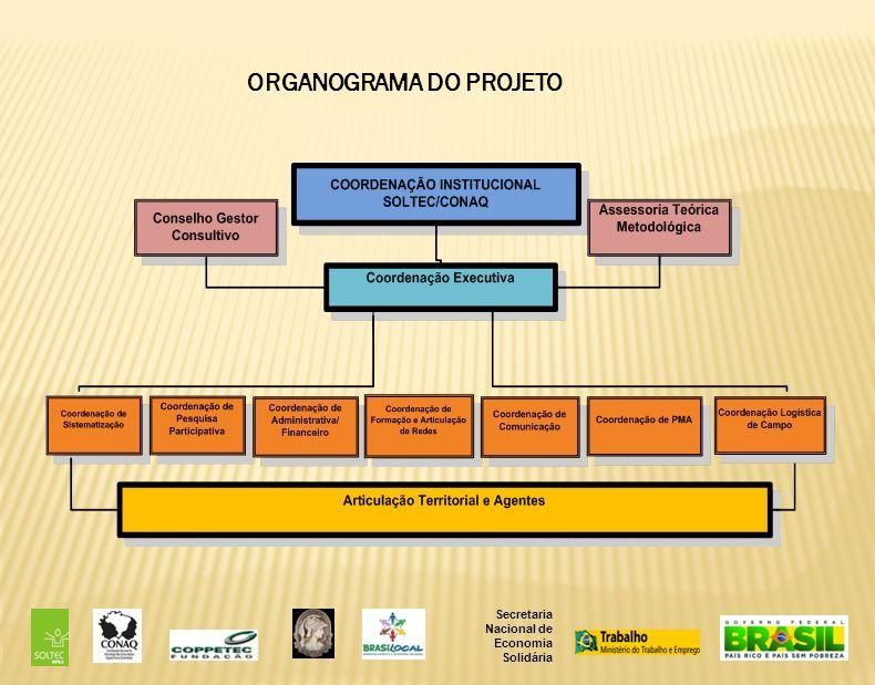 Secretaria Nacional de Economia Solidária ORGANOGRAMA DO PROJETO