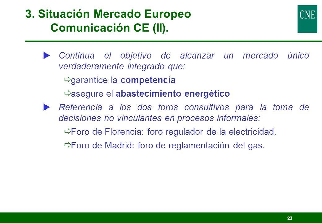 23 Continua el objetivo de alcanzar un mercado único verdaderamente integrado que: garantice la competencia asegure el abastecimiento energético Refer