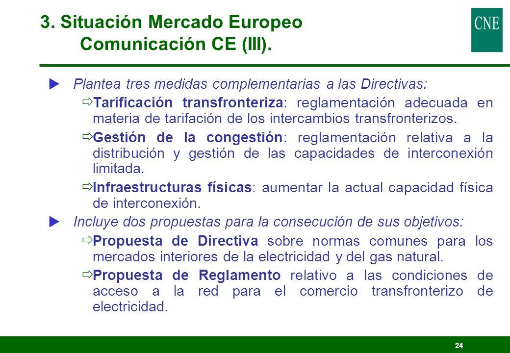 24 Plantea tres medidas complementarias a las Directivas: Tarificación transfronteriza: reglamentación adecuada en materia de tarifación de los interc