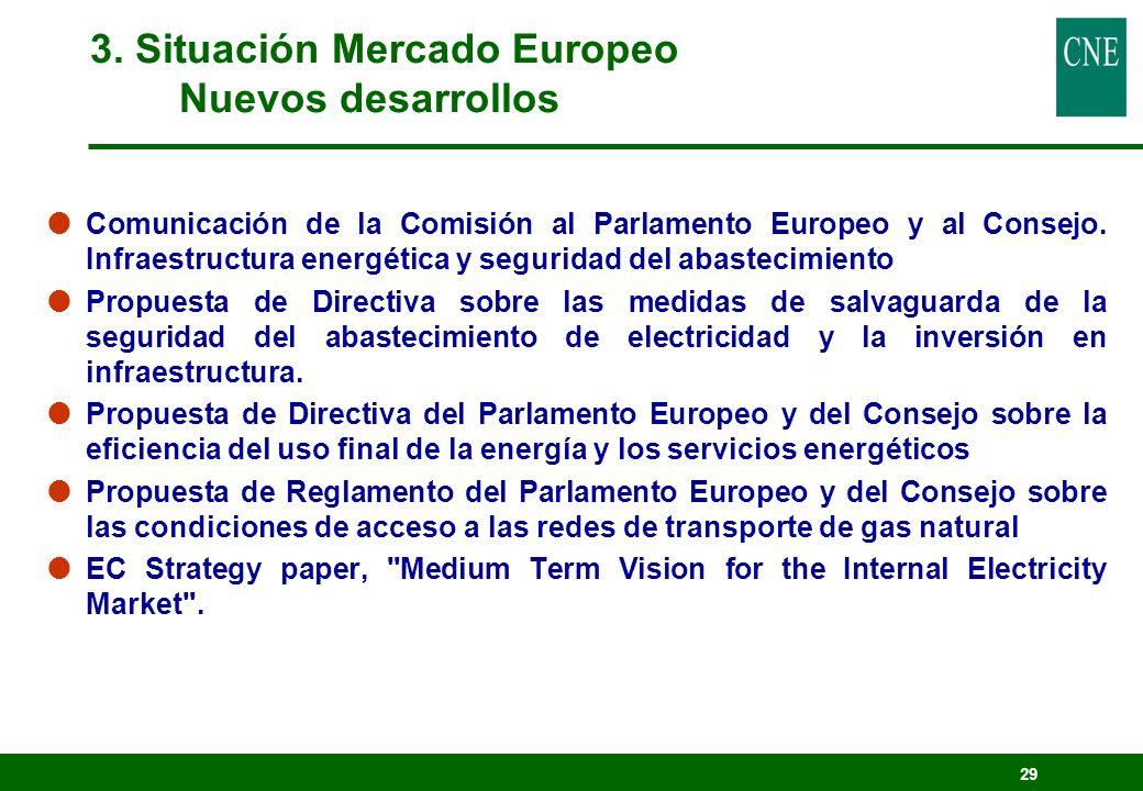 29 Comunicación de la Comisión al Parlamento Europeo y al Consejo. Infraestructura energética y seguridad del abastecimiento Propuesta de Directiva so