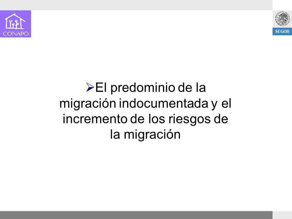 SEGOB El predominio de la migración indocumentada y el incremento de los riesgos de la migración