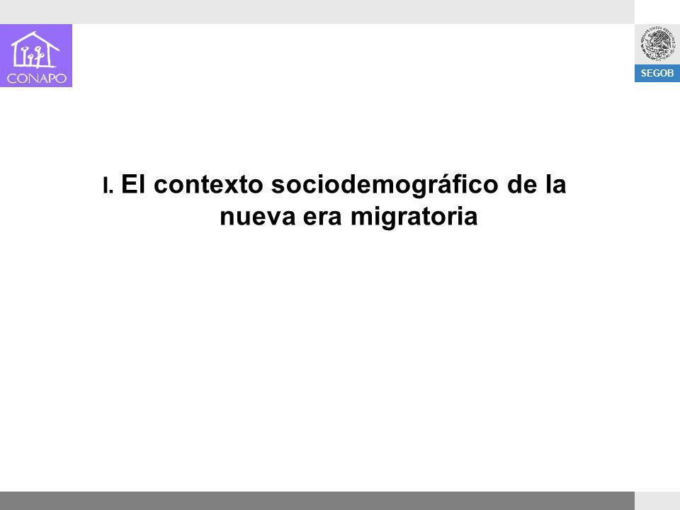 SEGOB I. El contexto sociodemográfico de la nueva era migratoria