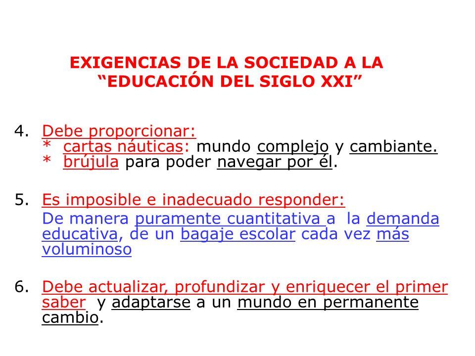 26 EXIGENCIAS DE LA SOCIEDAD A LA EDUCACIÓN DEL SIGLO XXI 1.Debe ofrecer recursos sin precedentes. La circulación, almacenamiento y comunicación de la