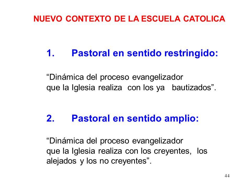 43 NUEVO CONTEXTO DE LA ESCUELA CATOLICA 2. Contexto Educativo-Escolar Reformas educativas: Posibilidad para educar en valores La escuela católica deb