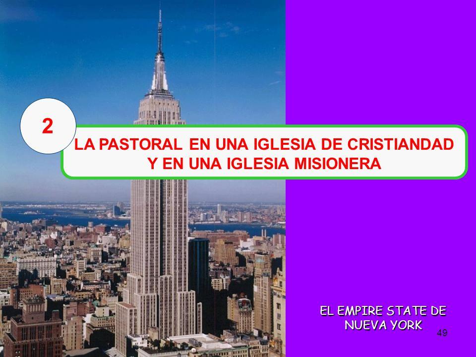 48 PASTORAL DE LA ESCUELA CATOLICA 1.Nuevo contexto de la escuela católica 1.Pastoral en la Iglesia de cristiandad y misionera