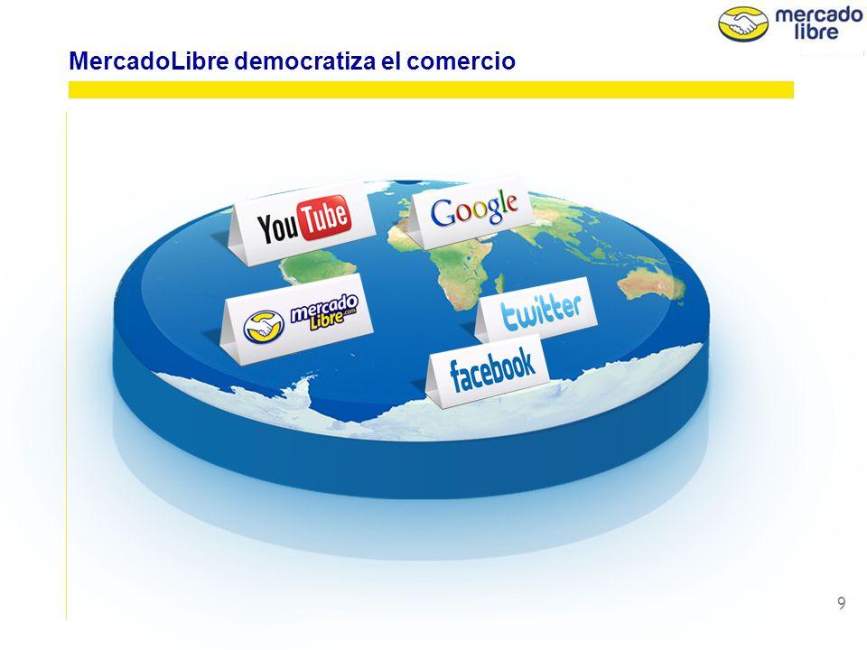 9 MercadoLibre democratiza el comercio