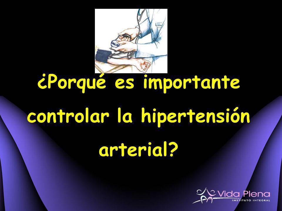 ¿Porqué es importante controlar la hipertensión arterial?