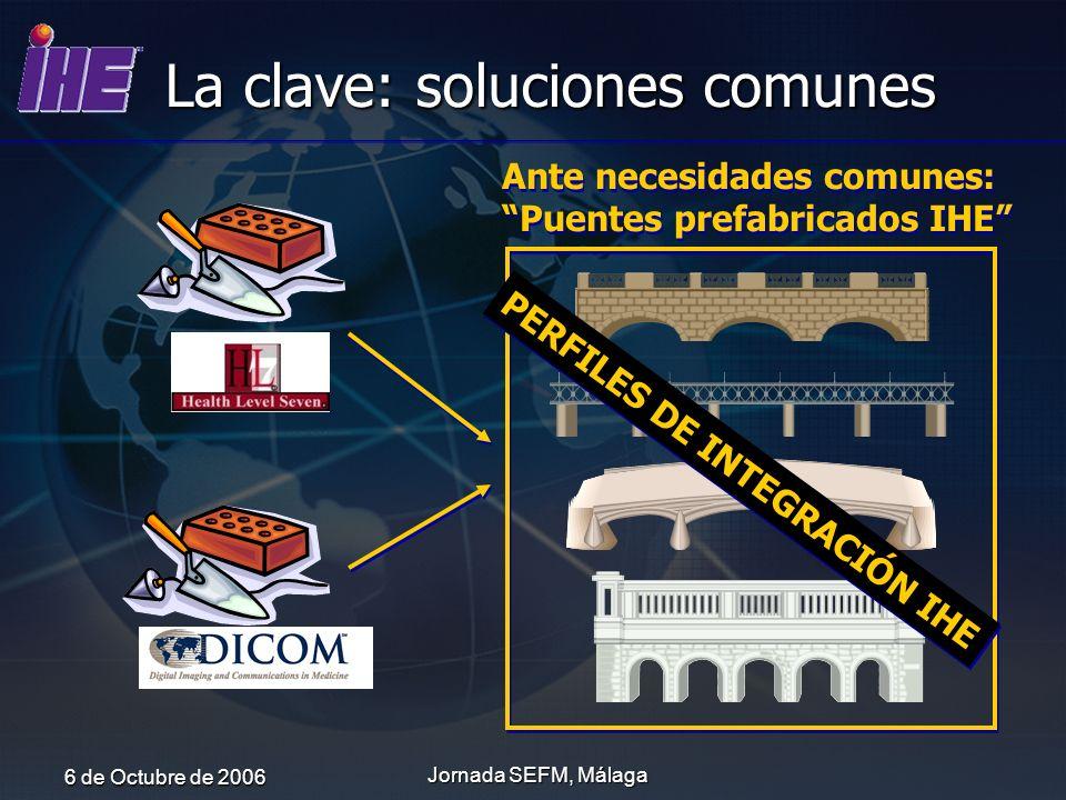 6 de Octubre de 2006 Jornada SEFM, Málaga La clave: soluciones comunes Ante necesidades comunes: Puentes prefabricados IHE Ante necesidades comunes: P