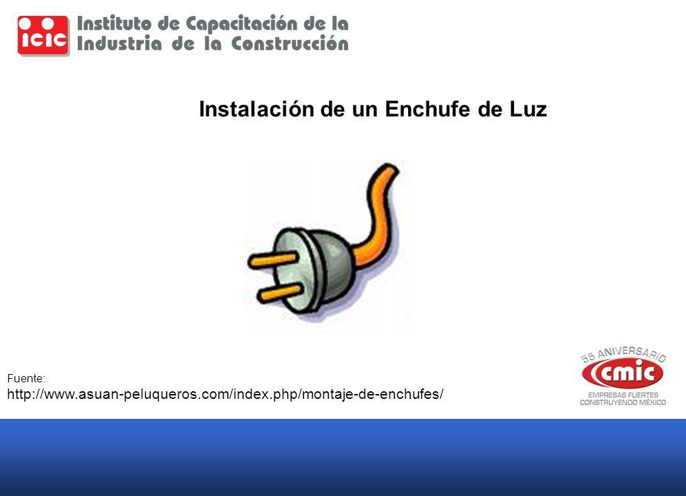 Instalación de un Enchufe de Luz Fuente: http://www.asuan-peluqueros.com/index.php/montaje-de-enchufes/