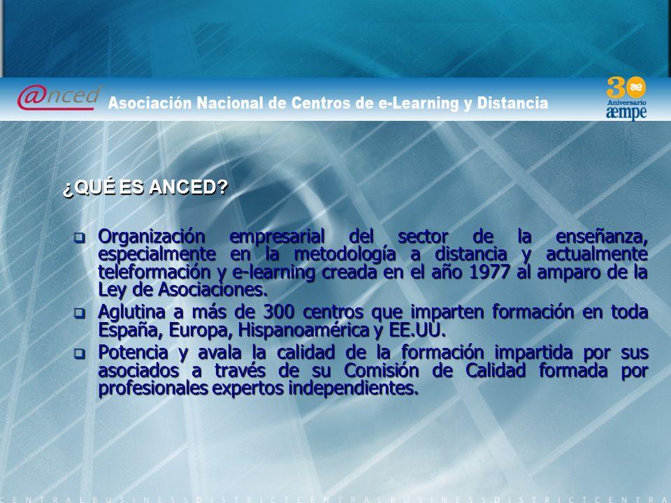 Organización empresarial del sector de la enseñanza, especialmente en la metodología a distancia y actualmente teleformación y e-learning creada en el año 1977 al amparo de la Ley de Asociaciones.