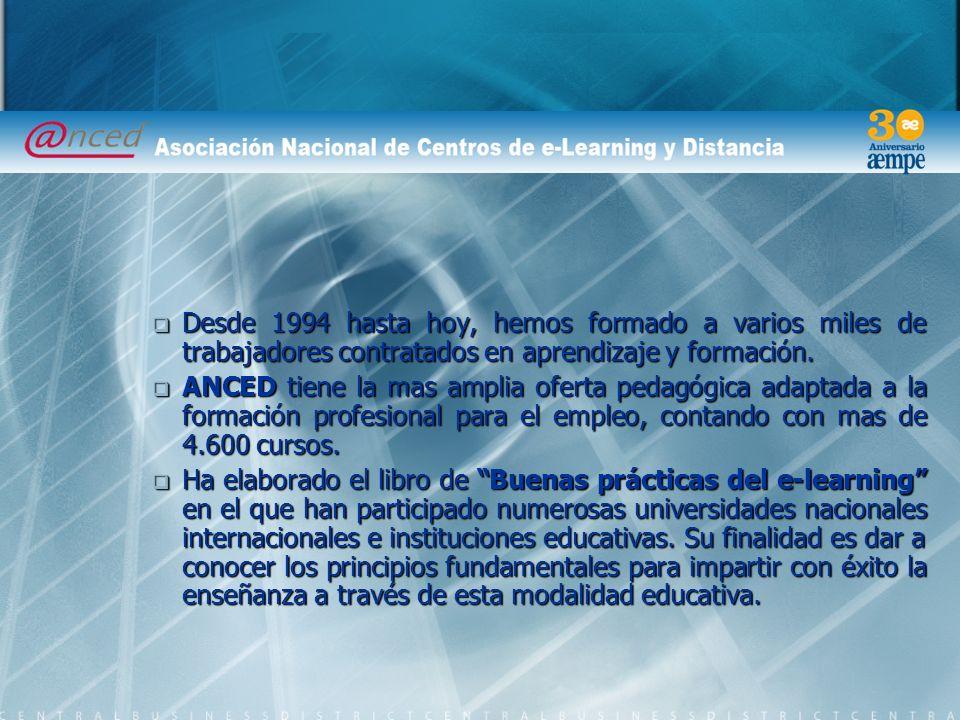 Desde 1994 hasta hoy, hemos formado a varios miles de trabajadores contratados en aprendizaje y formación.