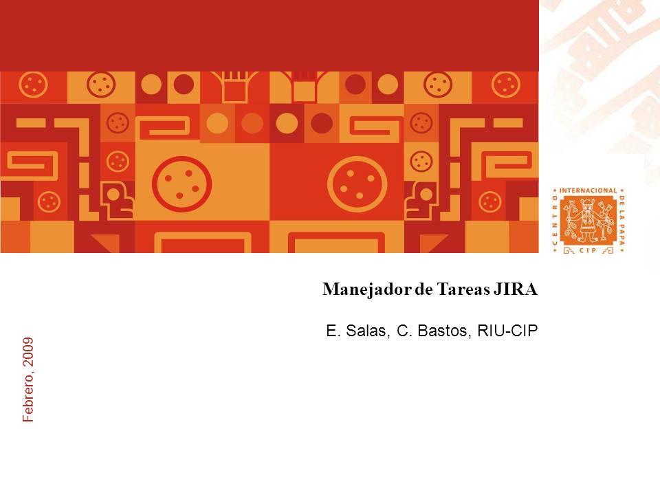 Febrero, 2009 Manejador de Tareas JIRA E. Salas, C. Bastos, RIU-CIP