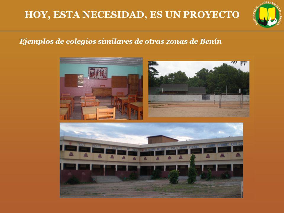 Ejemplos de colegios similares de otras zonas de Benín