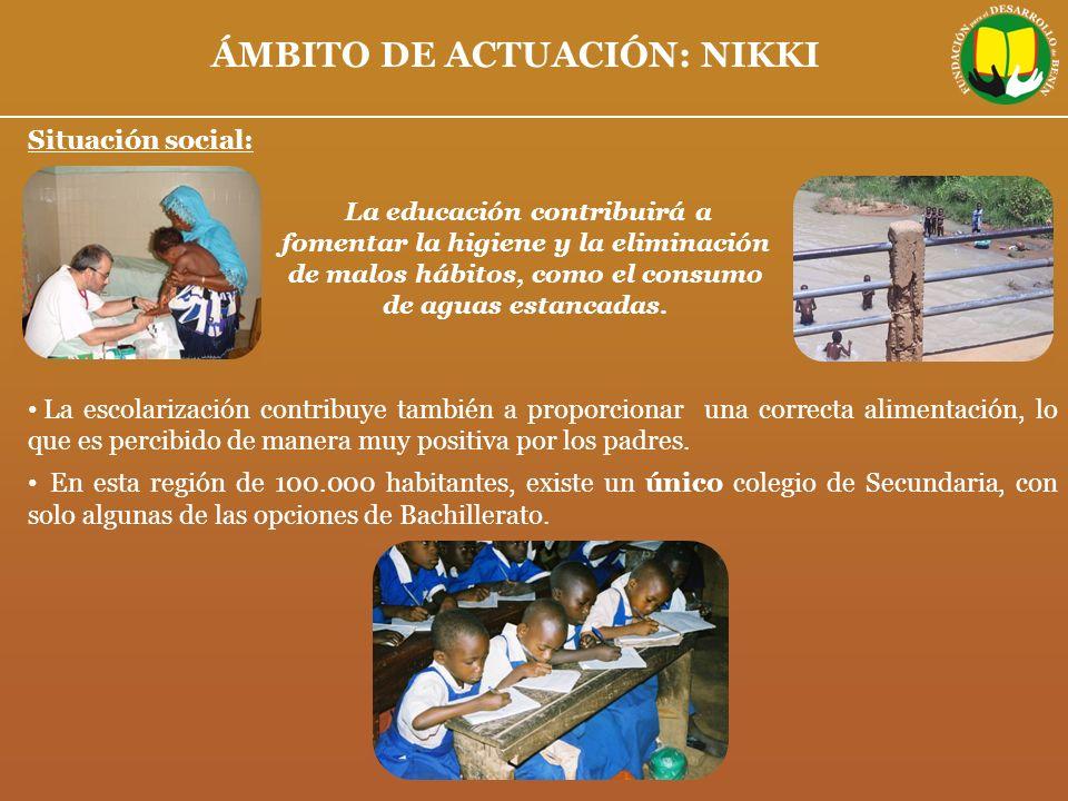 Situación social: La escolarización contribuye también a proporcionar una correcta alimentación, lo que es percibido de manera muy positiva por los pa