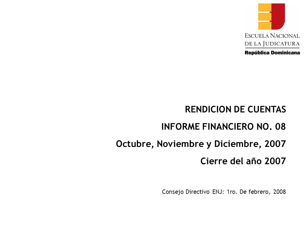 RENDICION DE CUENTAS INFORME FINANCIERO NO.