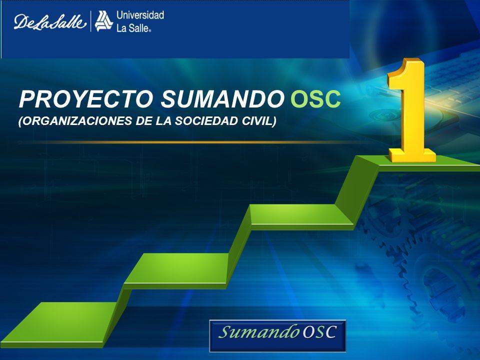L/O/G/O PROYECTO SUMANDO OSC (ORGANIZACIONES DE LA SOCIEDAD CIVIL) Sumando OSC